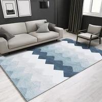 geometric anti slip carpet indoor printed decoration area rugs living room bedroom bedside bay window sofa floor decor mat