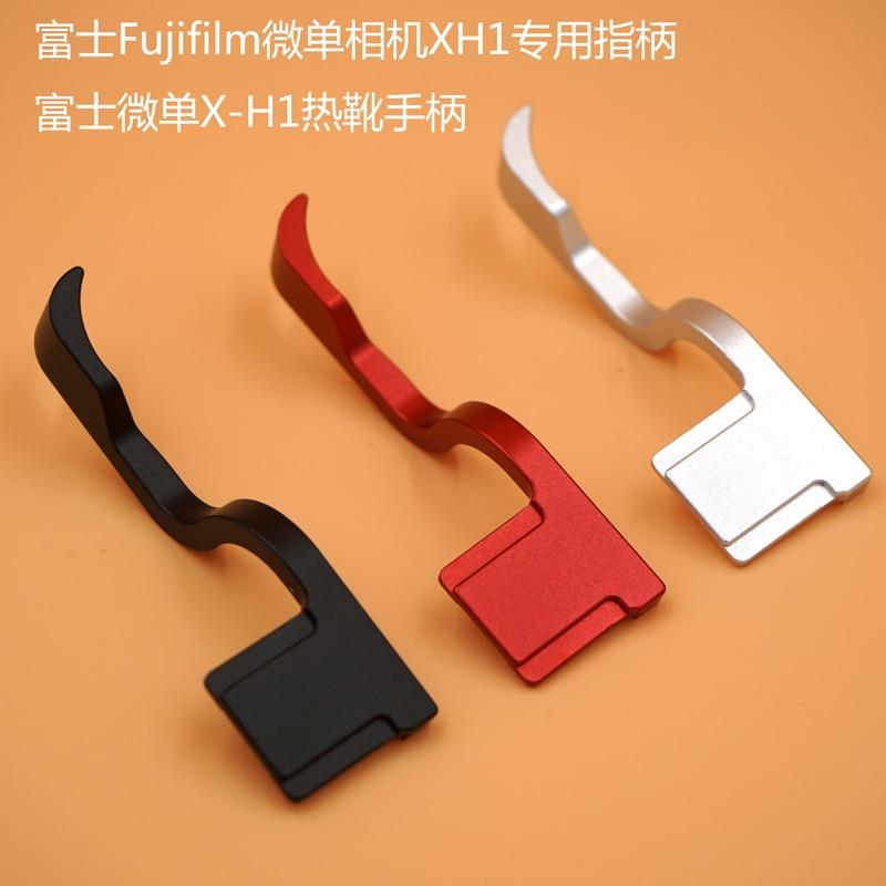 Metal sapato quente polegar-up hotshoe polegar up grip para fuji X-H1 fuji xh1 câmera aperto de mão