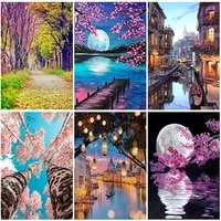 diy scenery 5d diamond painting full square drill landscape diamont embroidery cross stitch wall art home decor wall art gift