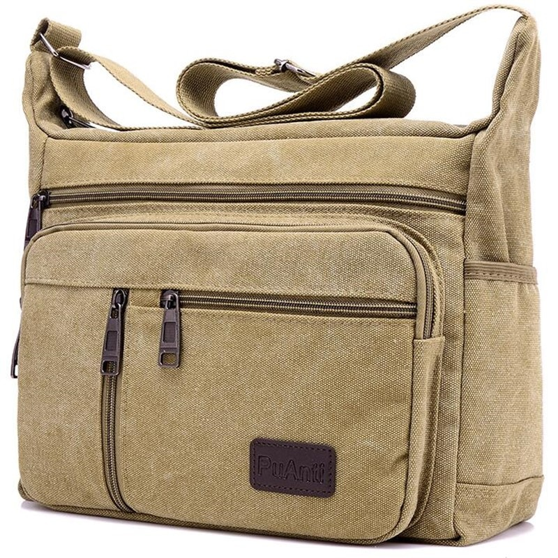 Men Canvas Shoulder Bags Casual Tote Travel Men's Crossbody Bag Luxury Messenger Bags Fashion High Q
