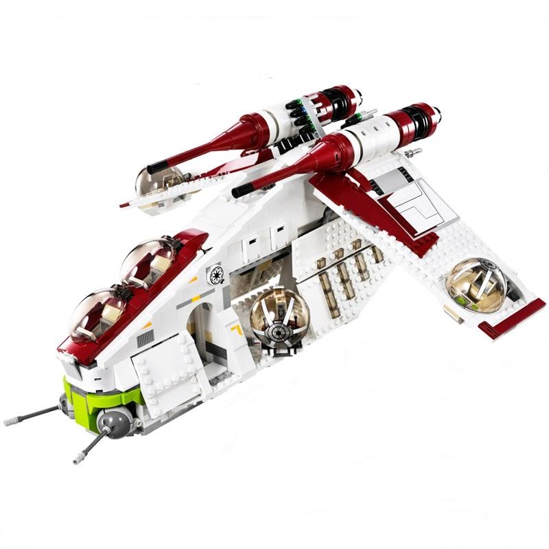 في المخزون ستار 05041 الحروب على لعبة جمهورية حربية مجموعة متوافق 75021 السفينة الأطفال التعليمية بناء كتل DIY الطوب اللعب