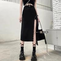 cheap wholesale 2021 spring summer autumn new fashion casual sexy women skirt woman female ol black skirt long skirt ay1497