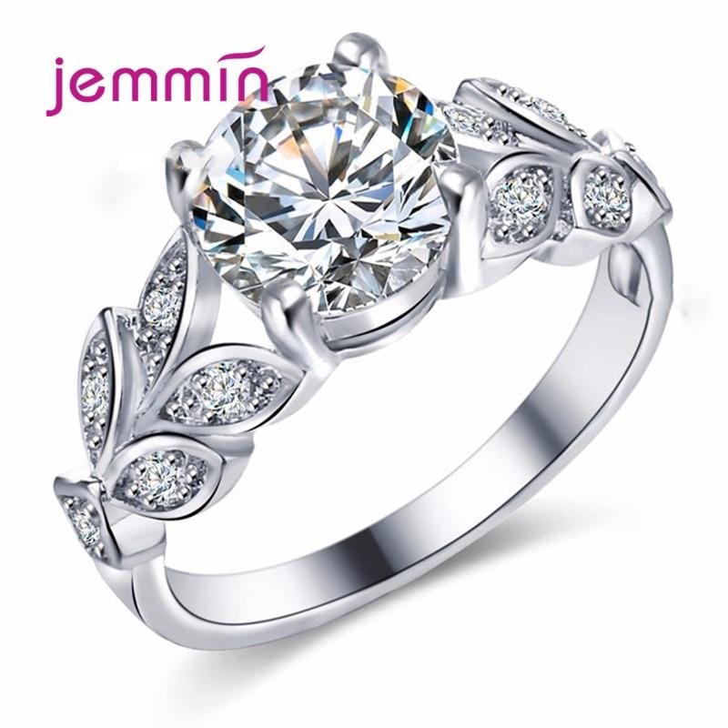 Высокое качество Натуральная 925 пробы серебряные кольца для женщин Свадебные обручальные кольца сверкающие кольца с настоящими Австрийски...