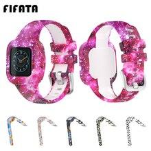 Ремешок для смарт часов FIFATA, браслет для Garmin Fit JR3, Детский мягкий силиконовый браслет для Garmin Vivofit JR 3