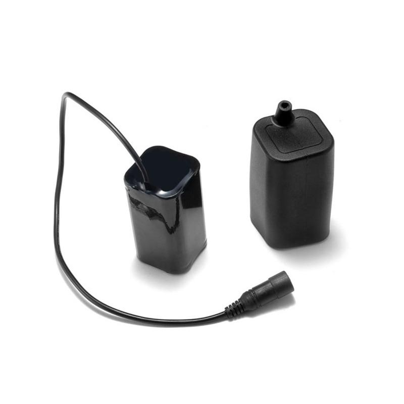 7,4 V 5200mAh Li-ion para CREE 18650 batería de bicicleta luces de silicona impermeable PCB funda bolsa para XML XM-L x2 X5 T6 lámpara de bicicleta