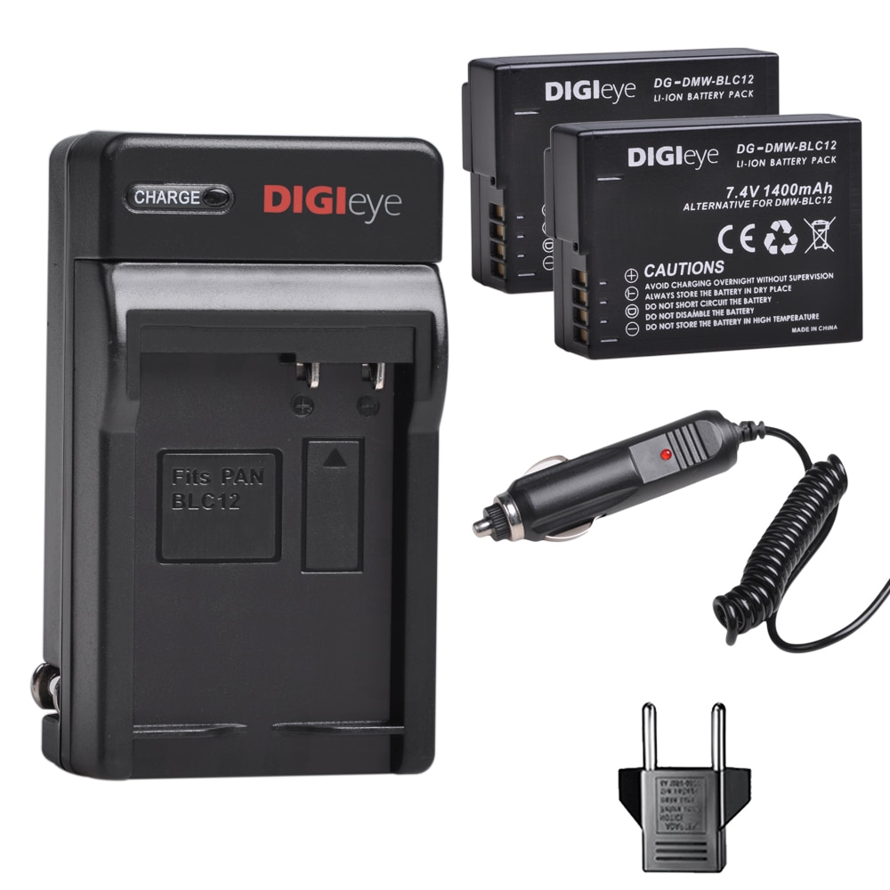 DMW-BLC12 BLC12E BLC12PP BLC12 2 uds. Batería + cargador de pared Digital...