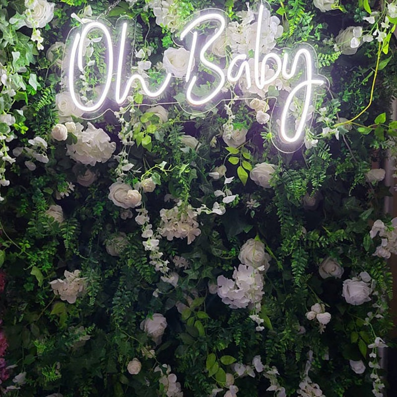 Oh Baby Neon Sign for party decoration, Newborn baby born Neon Sign, Neon Sign Custom for Home and Bedroom