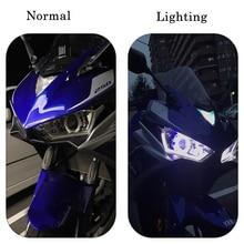 KEMiMOTO phare de moto pour YAMAHA   YZF R25 R3 2014 2017, oeil de démon caché ange R3