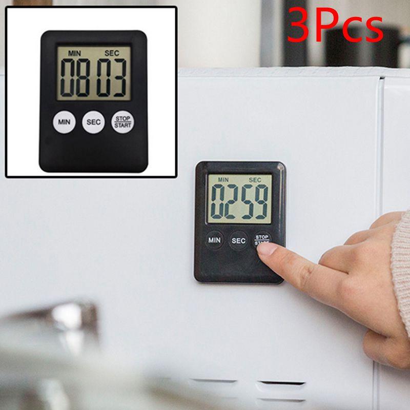 8 colores pantalla Digital LCD súper delgada temporizador de cocina cuadrado conteo de cocina cuenta atrás alarma reloj con imán accesorios de cocina
