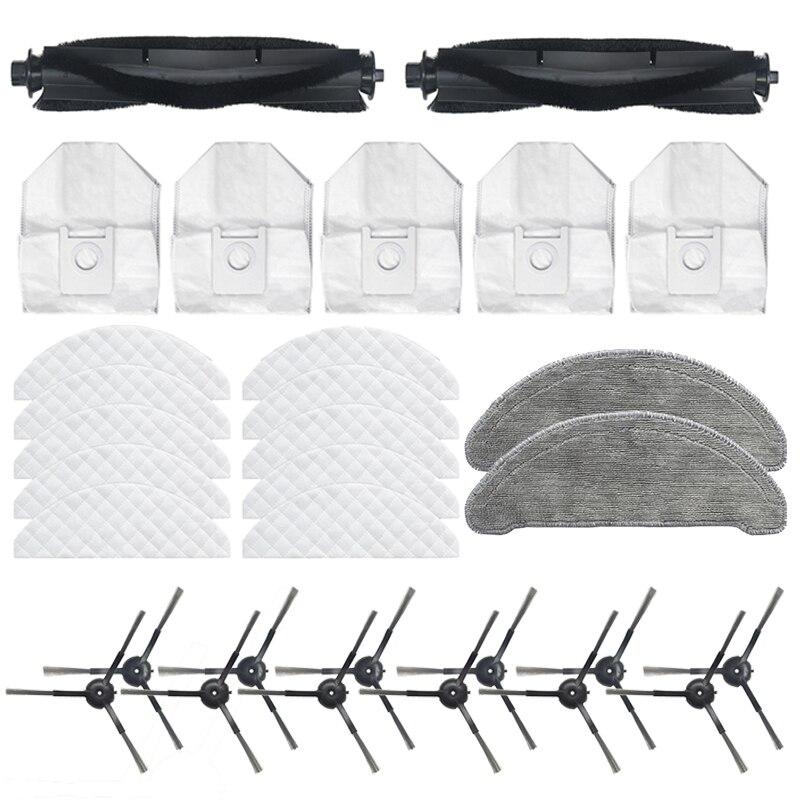 31 قطعة ل Roidmi حواء زائد مكنسة كهربائية فرشاة الرئيسية الجانب فرشاة كيس لجميع الغبار ممسحة القماش المتاح القماش استبدال أجزاء