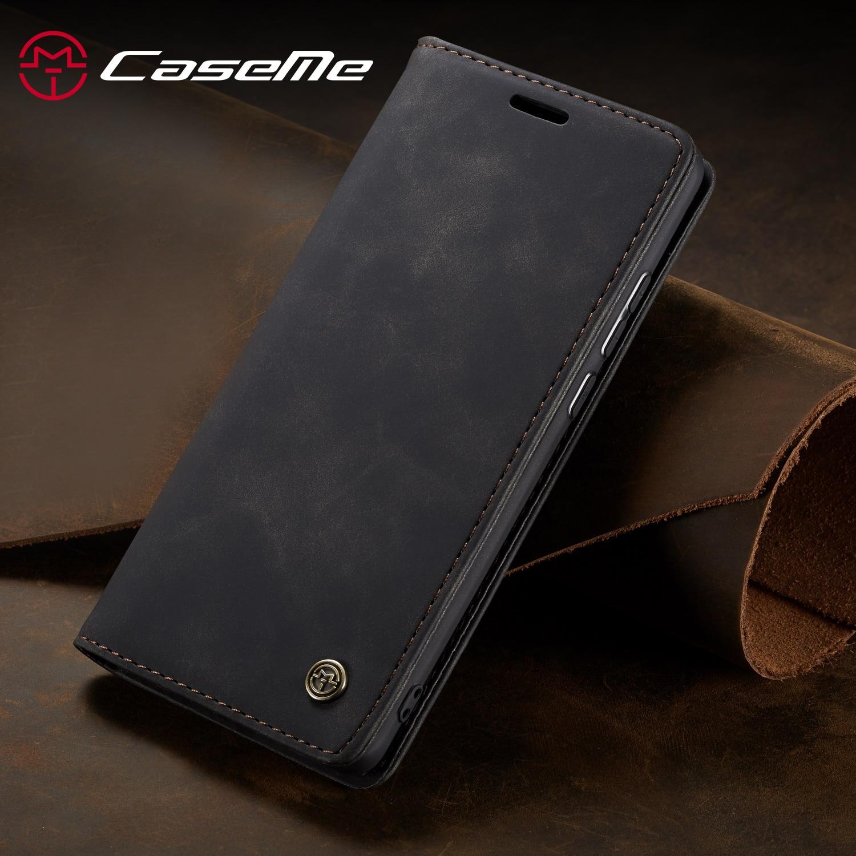 CaseMe carcasa para Xiaomi Redmi Nota 8 Note8 CC9 Pro Retro magnético Cartera de cuero, funda para Xiaomi Mi nota 10 Pro Flip funda protectora
