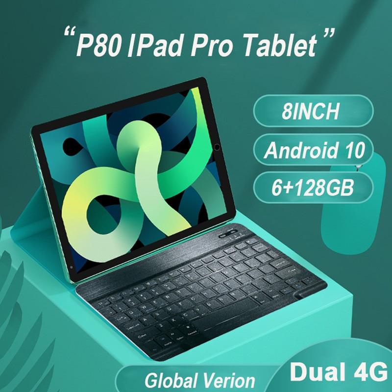 Планшет 8 дюймов, 6 ГБ ОЗУ 2021 Гб ПЗУ, Android 10, 10 ядер, Google Play, 2 SIM-карты, Android, GPS, Bluetooth, Wi-Fi