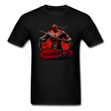Marvel Deadpool 3D T-Shirt 2018 Hipster hauts noirs T-Shirt hommes coton tissu Fitness T-Shirt été loisirs vêtements