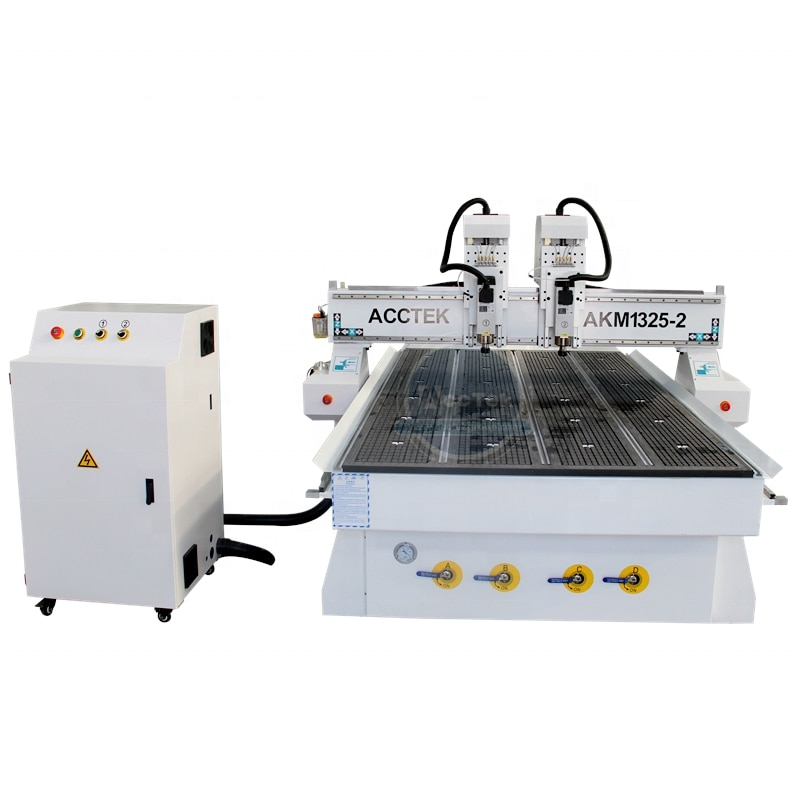 Good Quality Two Heads Furniture Cnc Engraving Machine Desktop Cnc Wood Router 1325 Price