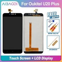 Nueva pantalla táctil Original de 5,5 pulgadas + reemplazo de montaje para pantalla LCD 1920X1080 para teléfono Oukitel U20 Plus Android 6,0 MTK6737T