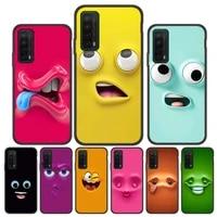 funny face phone case on honor 10 lite 20s 30s 10i 8x 9a 9x funda huawei p30 lite p40 p20 pro capa p smart 2019 2020 2021 bumper