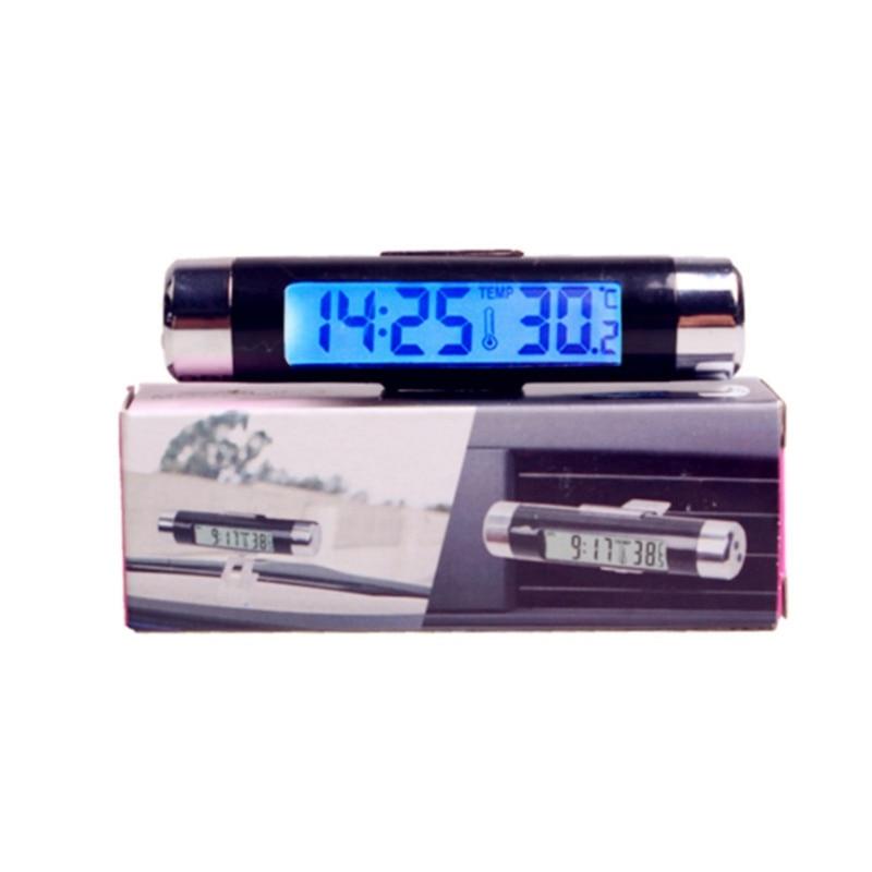 Портативные автомобильные электронные автоматические часы светящийся термометр светодиодный ная подсветка цифровой дисплей приборная па...