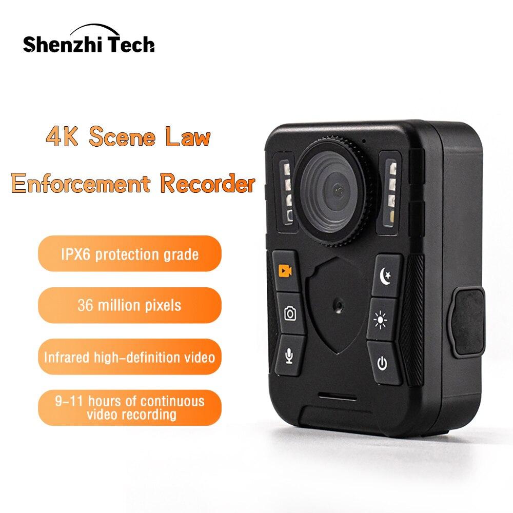 كاميرا يتم ارتداؤها على الجسم صغير لإنفاذ القانون تصل إلى 128GB للرؤية الليلية كاميرات الشرطة للصدمات (32G)