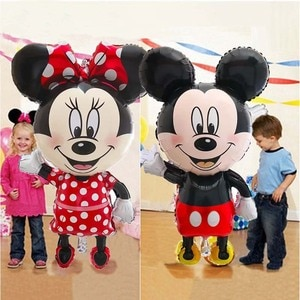 Giant Mickey Minnie Mouse Balloons Disney Cartoon Foil Balloon Baby Shower Birthday Party Decorations Kids Classic Toys Air Gift