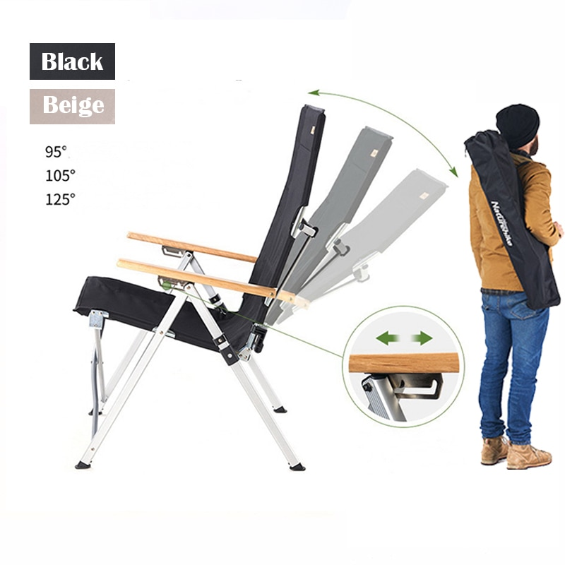 Outdoor Portable Folding Deck Chair Armchair Adjustable Long Back Chair Outdoor Camping Recliner Picnic Beach Relaxation Chair eco friendly cedarwood outdoor sun loungers folding deck chair sling chair beach lounge recliner