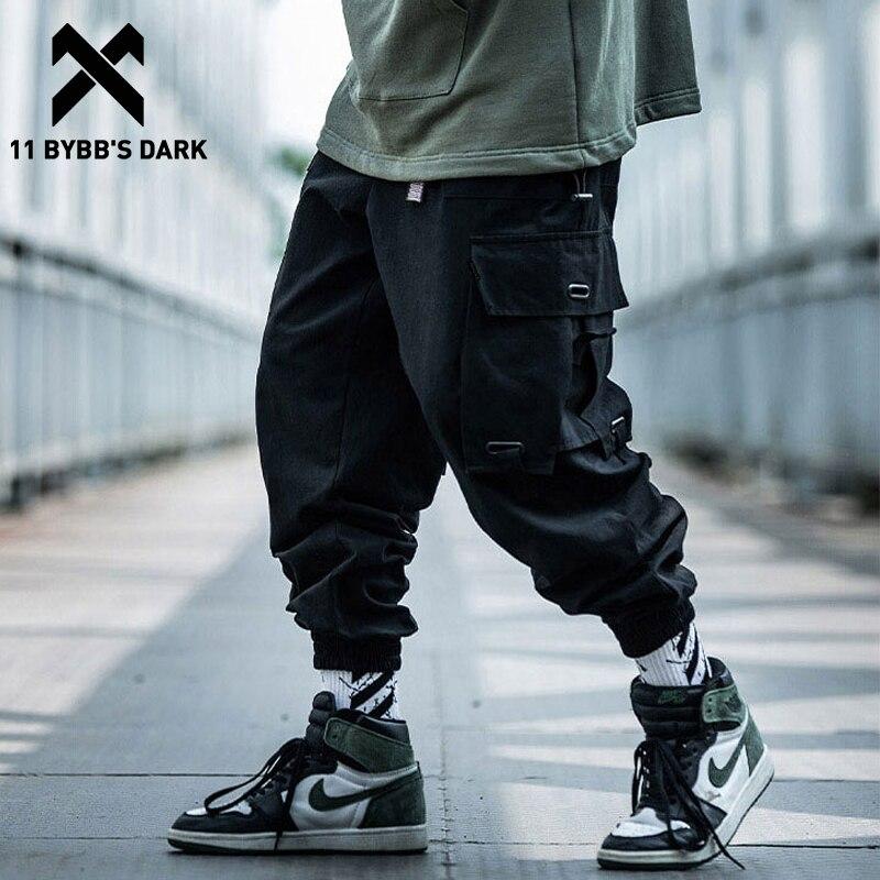 11 BYBB'S الظلام جيوب كبيرة الرجال البضائع سراويلي حريمي 2019 Harajuku الشارع الشهير فضفاض Sweatpants الهيب هوب ركض غير رسمي الرجال بنطلون