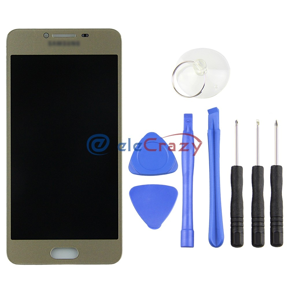 100% tested Super AMOLED Samsung Galaxy C5 C5000 LCD display with touch screen assembly Replacement No Dead Pixel AAA grade enlarge