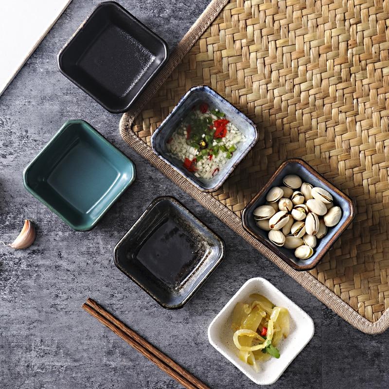 Platos para salsas, Plato de vinilo creativo, condimentos de cocina, suministros para...