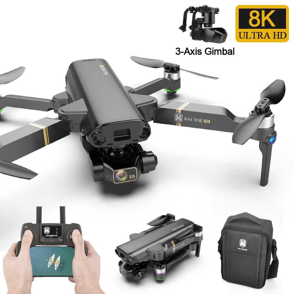 2021 جديد غس الطائرة بدون طيار KAI-ONE برو أرسي طائرات بدون طيار 8K هد كاميرا 3-محور جيمبال إيس المهنية كوادكوبتر بالريموت كنترول فرش السيارات