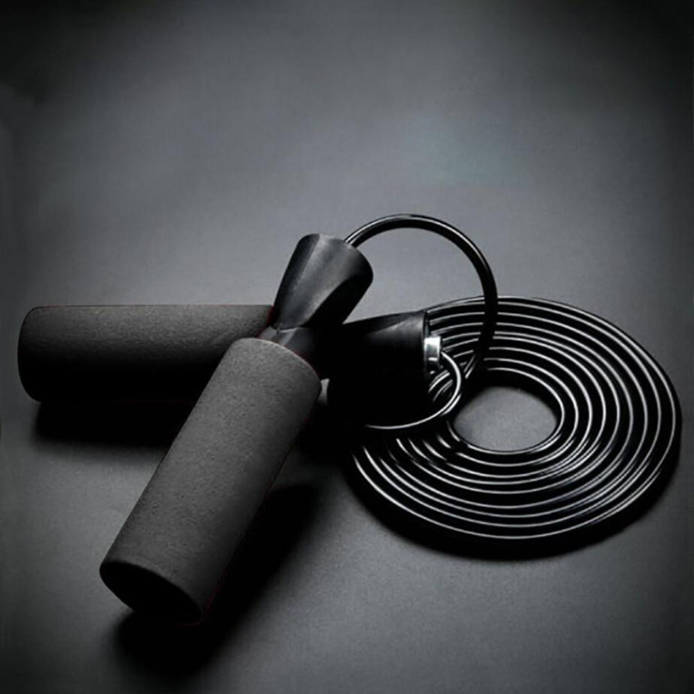 Cuerda de alambre de acero cuerdas para saltar para boxeo MMA gimnasio entrenamiento de la aptitud crossfit salto de cuerda de saltar rodamiento de bolas Ultra-velocidad saltar