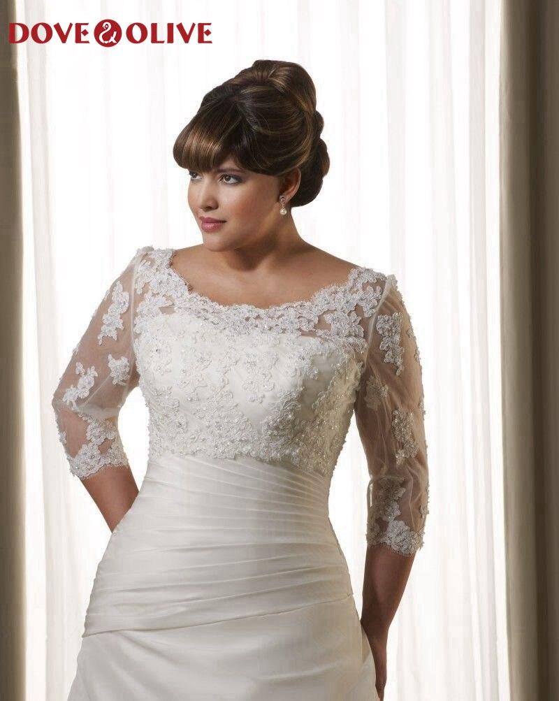 Branco macio laço feminino bolero elegante sheer verão appliqued frisado colher pescoço vestidos de festa de casamento xale plus size 2020