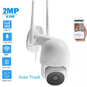 Outdoor AI Human Auto Tracking Wifi IP Camera H.265 P2P Two Way Audio MIC Security Wireless Cam