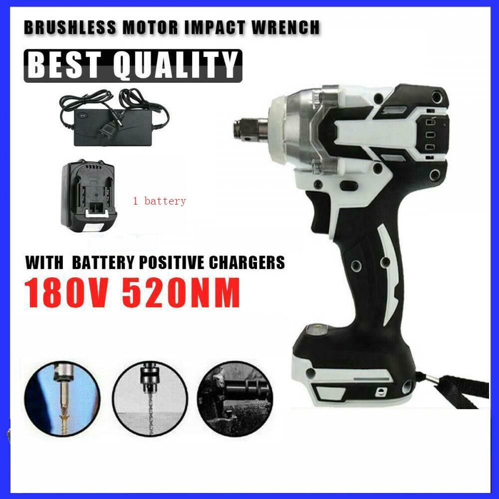 520nm 18 فولت 1/2 بوصة اللاسلكي فرش تأثير المفتاح الكهربائي راتل بندقية مفتاح بانة مع بطارية ليثيوم أيون أدوات الحفر اليد