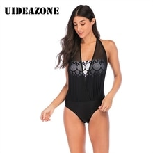 2020 Nouveau Bikini femme Maille Couches Bikini Monokini Bikini beachwear Maille Épissage Enveloppé Poitrine Impression Slim Maillot de bain Une Pièce