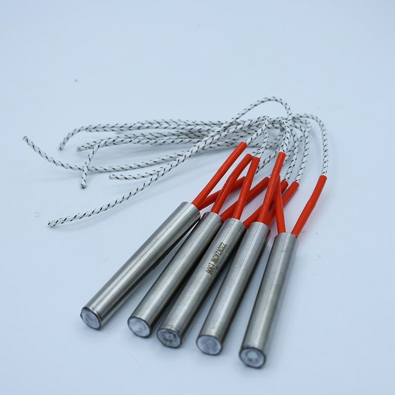Диаметр трубки 16 мм. Нагреватель картриджей 16x100 мм 16x120 мм 16x140 мм 110 В/220 В/380 В, трубчатый нагревательный элемент из нержавеющей стали, 5 шт.