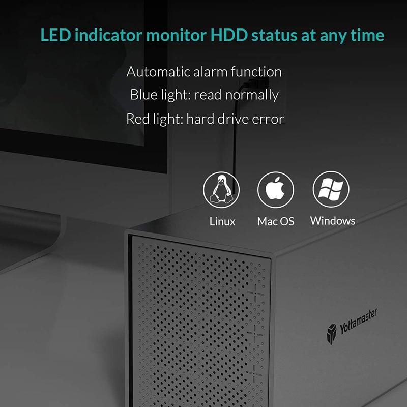 Yottamaster PS500U3 Aluminum 5 Bay 2.5