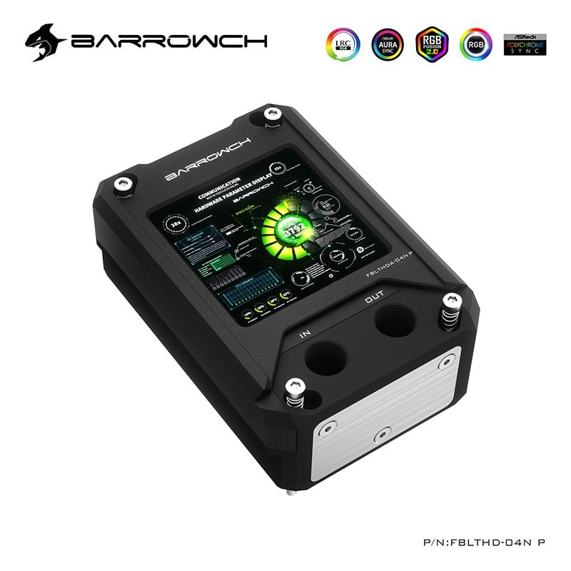 مبرد مياه وحدة المعالجة المركزية من BARROWCH لـ AMD ، AM3 ، AM4 ، مع كتلة شاشة عرض لقياس درجة الحرارة ، واجهة متوافقة مع HDMI ، FBLTHDA-04N/P