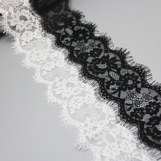 (3 meters/lot) 8cm White lace fabric Sewing Garment Ribbon Wedding Dress Fabric 10
