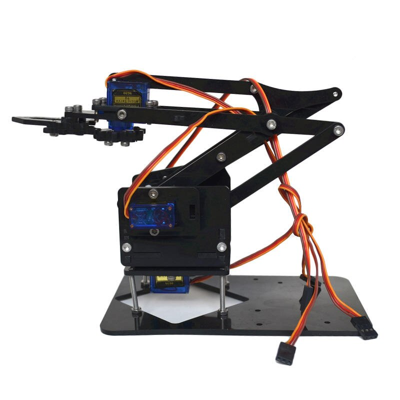 4DOF-تجميع ذراع روبوت Mechine ، مع مؤازرة تروس بلاستيكية SG90 ، لروبوت DIY ، أجزاء طباعة 3D COD