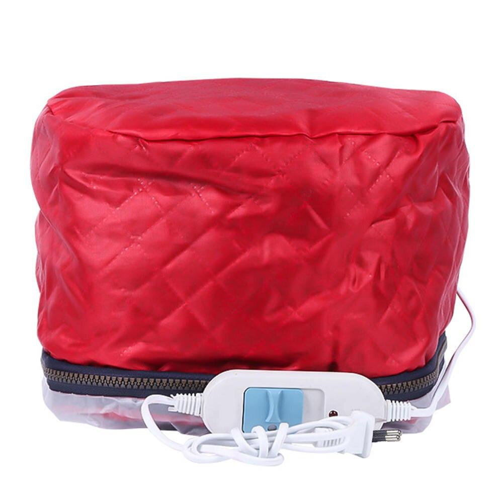 Rot Elektrische Haar Maske Backen Öl Kappe Thermische Behandlung Schönheit Dampfer Pflegende Heizung Temperatur Steuerung HairCap 220V