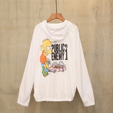 off white ow white summer single layer sunscreen Simpson print thin breathable men's and women's coa