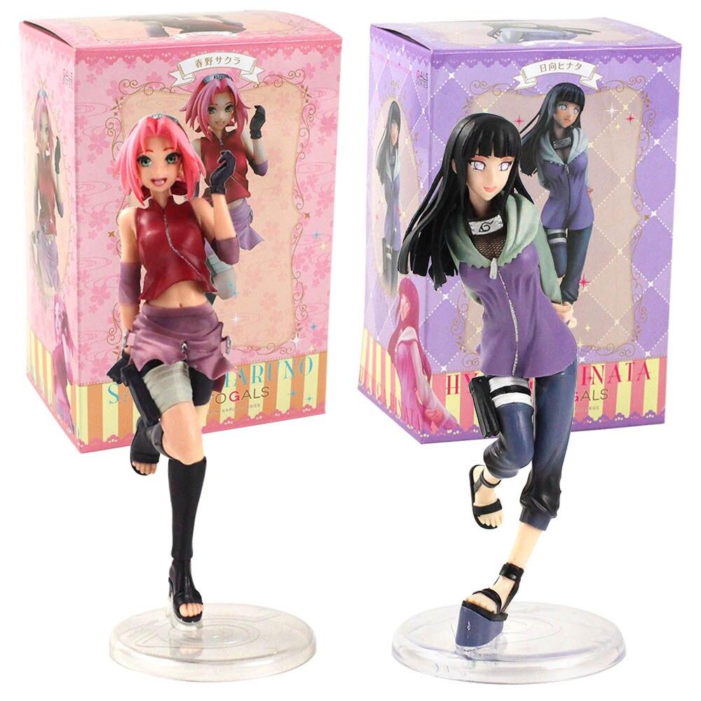 20-23cm Naruto Shippuden figura Anime Naruto chicas Hyuuga Hinata Sakura Haruno figura de acción de PVC juguete de modelos coleccionables