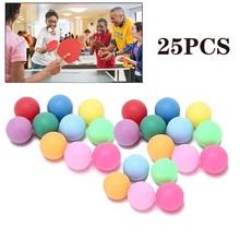 50Pcs/Pack Colored Pong Balls 40mm Entertainment Table Tennis Balls Outdoor Sports Multi-Color Balls
