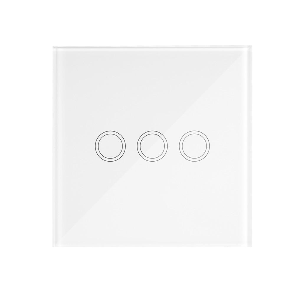 EWeLink T433 86 tipo RF433MHz RF luz LED con control remoto Panel táctil de vidrio interruptor Wifi controlador inteligente inalámbrico para Google Home