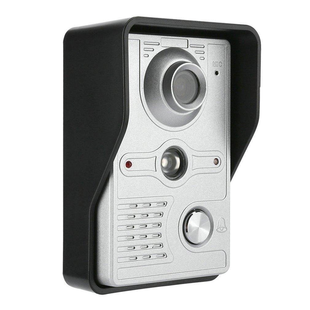 LESHP Wired Video Intercom Doorbell 7 Inch Display Waterproof Night Vision Color Hands-free Doorbell Intercom System 420 Wire 92 enlarge