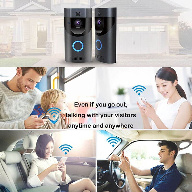 720P HD Video Doorbell Camera WiFi Wireless Doorbell Smart Home Doorbell Camera Outdoor Mini Video Intercom Two Way Audio enlarge