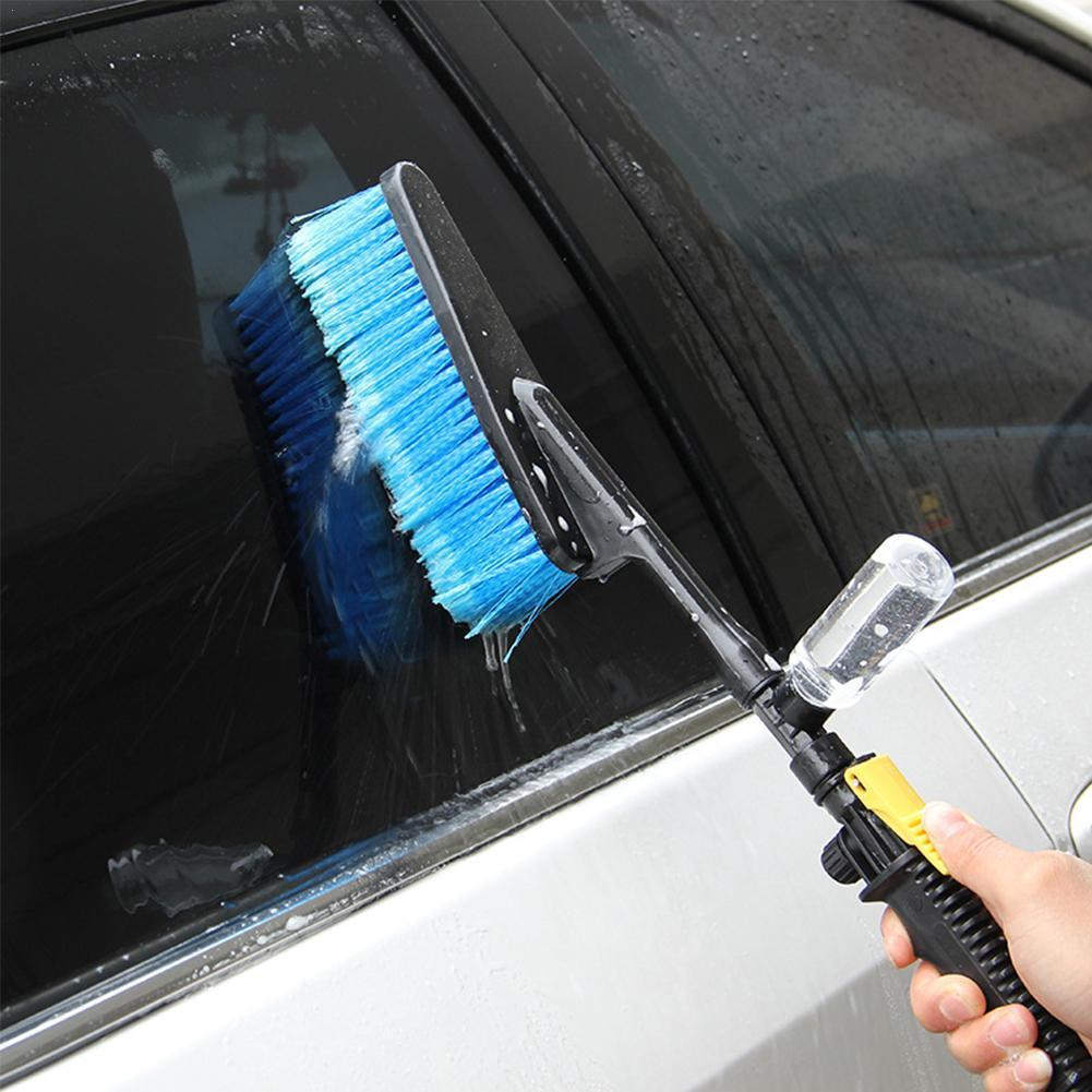 Tire Clean Tool Car Cleaning Brush Retractable Long Handle Foam Flow Washer Brush Brush Water Care Wash Car D8B9