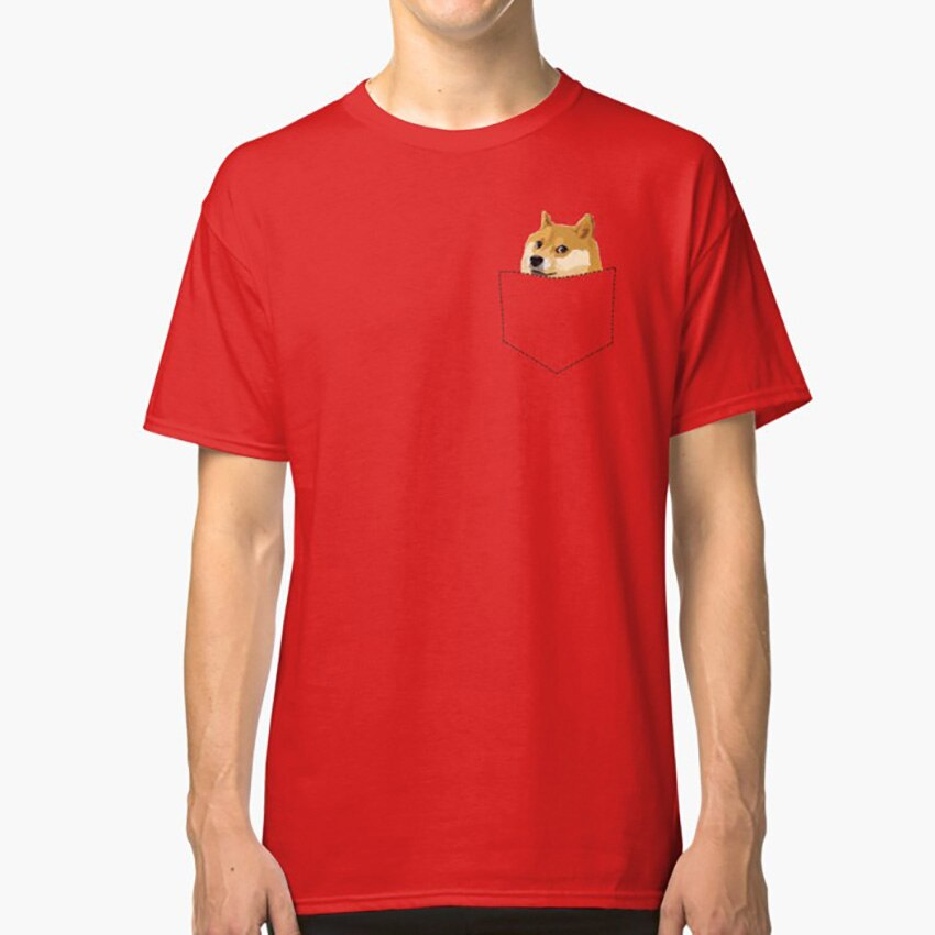 Bolsillo Doge camiseta Doge Meme gracioso camisa Doge mucho camisa Wow