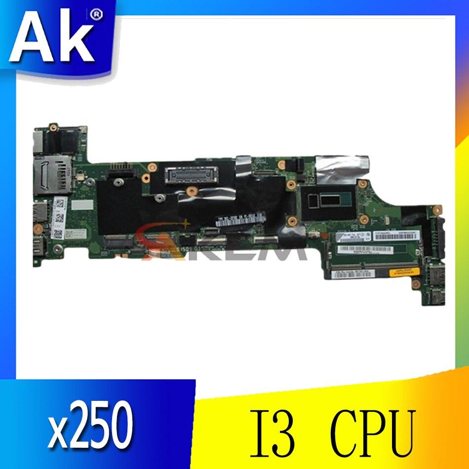 لينوفو ثانكباد x250 اللوحة الأم للكمبيوتر المحمول CPU I3U NM-A091 100% اختبار موافق