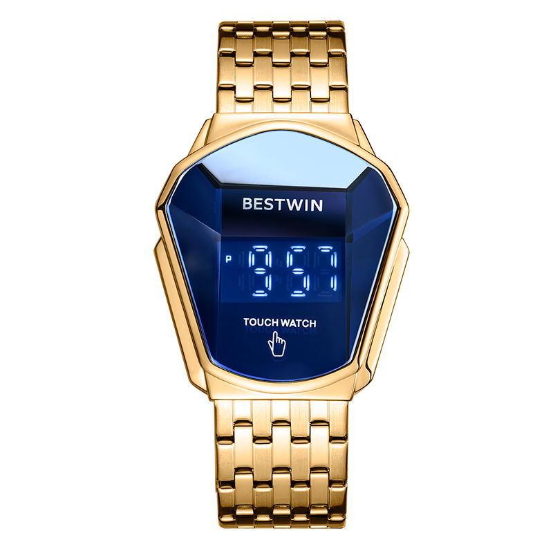 Часы наручные Bestwin Мужские Цифровые, модные брендовые водонепроницаемые электронные с сенсорным ЖК-дисплеем