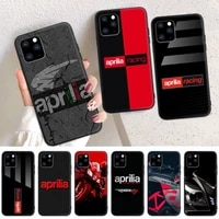 aprilia racing motorcycle logo phone case for iphone 6 7 8 plus 11 12 promax x xr xs se max back cover